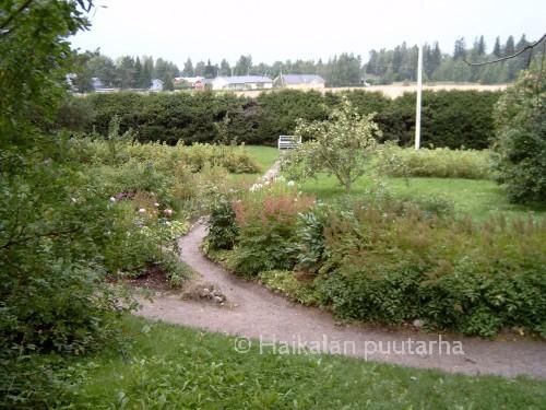 Ainola sijaitsee mäeltä, jossa puutarha aukeaa alas rinteestä. Kuusiaita on suojannut hyötytarhaa tuulilta ja tuhoeläimiltä, Nykyään se suojaa näkymää lähelle rakennetulta uudelta asutukselta.